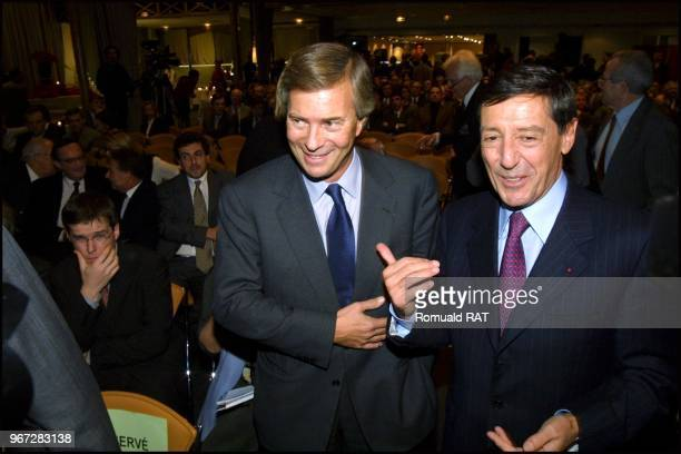 Vincent Bolloré and Serge Tchuruk