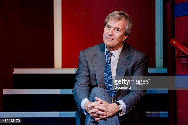 Vincent Bollore billionaire and chairman of the Bollore Group poses for a photograph during an Autolib carsharing scheme news conference in Paris...