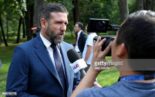 Vincent Candela arrives to attend the 2018 FIFA World Cup Russia Final match between France and Croatia at Luzhniki Stadium on July 15 2018 in Moscow...