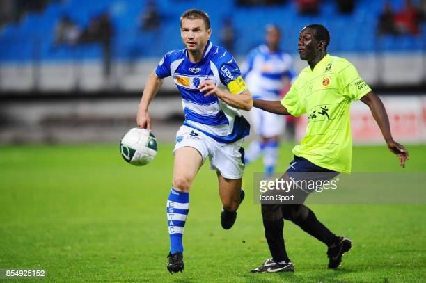 Vincent CARLIER / Amara BABY Troyes / Chateauroux 8eme journee de Ligue 2 Stade de l'Aube Troyes