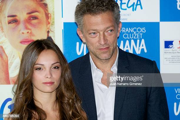 Vincent Cassel and Lola Le Lann attend 'Un moment d'egarement' photocall at Instituto Frances on September 5 2015 in Madrid Spain