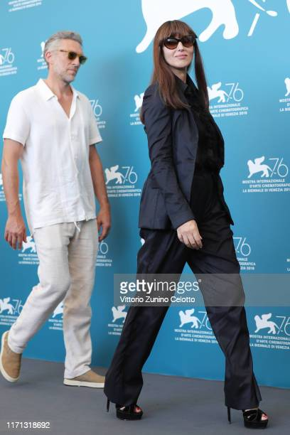 Vincent Cassel and Monica Bellucci attends the Irreversible photocall during the 76th Venice Film Festival at Sala Grande on August 31 2019 in Venice...