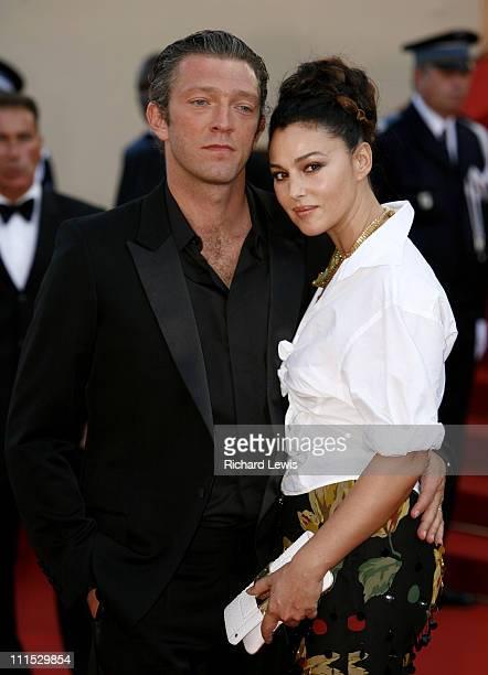 "Vincent Cassel and Monica Bellucci during 2006 Cannes Film Festival - ""Indigenes"" Premiere at Palais des Festival in Cannes, France."