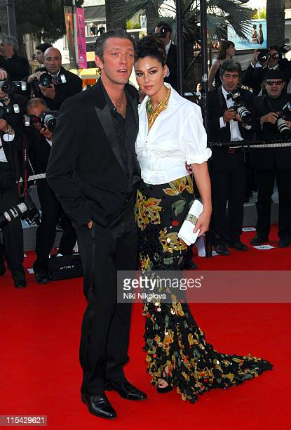 Vincent Cassel and Monica Bellucci during 2006 Cannes Film Festival 'Indigenes' Premiere at Palais des Festival in Cannes France