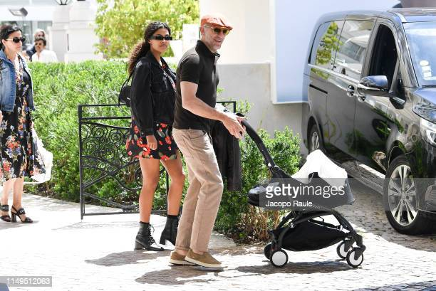 Vincent Cassel and Tina Kunakey are seen during the 72nd annual Cannes Film Festival at on May 16 2019 in Cannes France