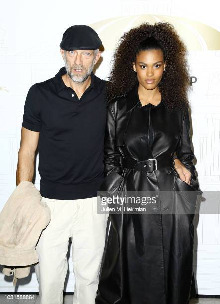 Vincent Cassel and Tina Kunakey attend the Longchamp 70th Anniversary Celebration at Opera Garnier on September 11 2018 in Paris France