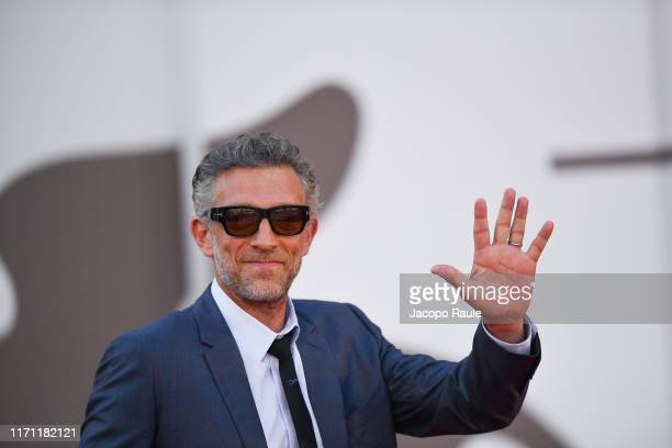 """Vincent Cassel attends """"J'Accuse"""" premiere during the 76th Venice Film Festival at Sala Grande on August 30, 2019 in Venice, Italy."""