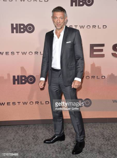 """Vincent Cassel attends the premiere of HBO's """"Westworld"""" Season 3 at TCL Chinese Theatre on March 05, 2020 in Hollywood, California."""
