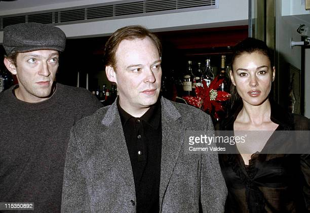 Vincent Cassel Christopher Gans and Monica Bellucci