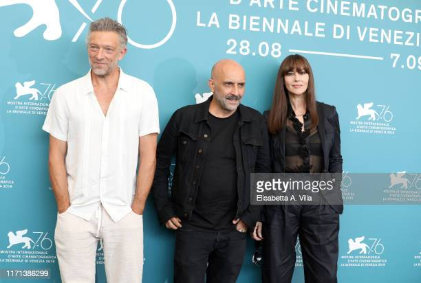 Vincent Cassel director Gaspar Noé and Monica Bellucci attend Irreversible photocall during the 76th Venice Film Festival at Sala Grande on August 31...