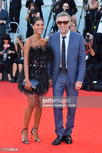 """Vincent Cassel et Tina Kunakey walks the red carpet ahead of the """"J'Accuse"""" screening during during the 76th Venice Film Festival at Sala Grande on..."""