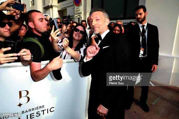 Vincent Cassel is seen at Le majestic hotel during the 72nd annual Cannes Film Festival at on May 25 2019 in Cannes France