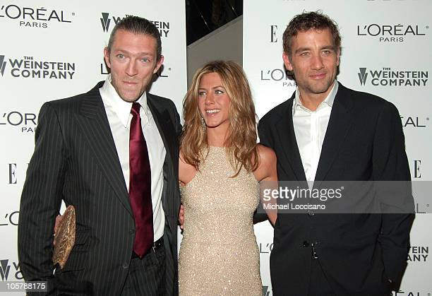 Vincent Cassel Jennifer Aniston and Clive Owen during 'Derailed' New York City Premiere Presented by L'Oreal and ELLE Magazine at Loews Theatre...