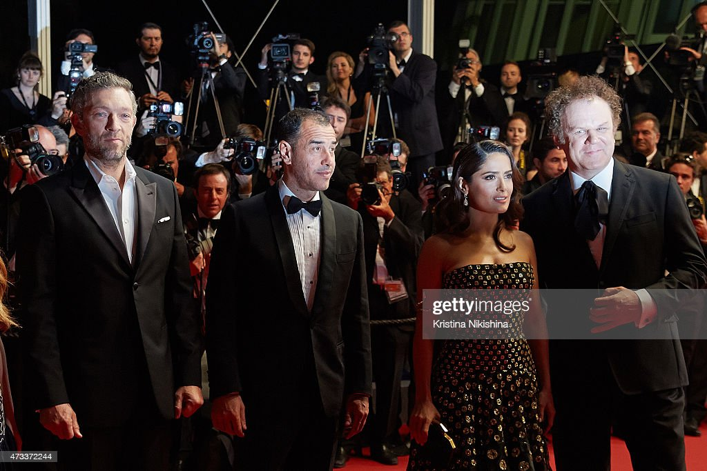 Vincent Cassel, Mateo Garrone, Salma Hayek and John C. Reilly attend Premiere of 'Il Racconto Dei Racconti' ('Tale of Tales') during the 68th annual Cannes Film Festival on May 14, 2015 in Cannes, France.