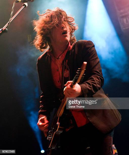 Vincent Cavanagh of Anathema performs on stage on the second day of live music at Hellfire Festival at NEC Arena on November 8 2009 in Birmingham...