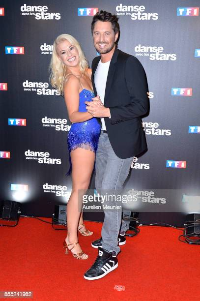 Vincent Cerutti and Katrina Patchett attend the Danse avec les Stars photocall at TF1 on September 28 2017 in Paris France