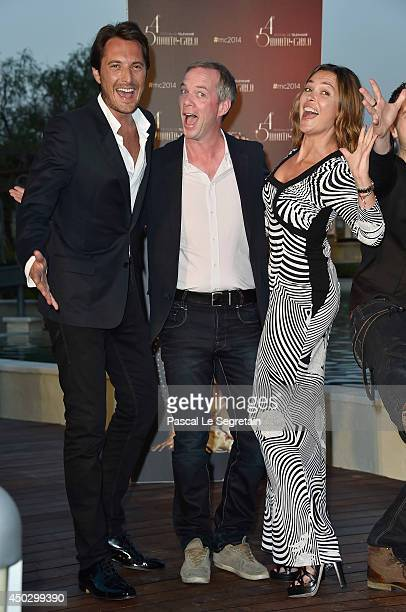 Vincent Cerutti Julien Arnaud and Sandrine Quetier arrive at a party during the 54th MonteCarlo Television Festival at MonteCarlo Bay Resort on June...