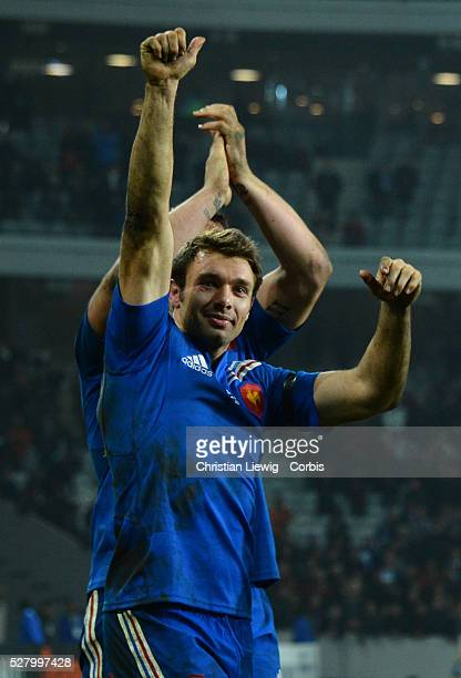 FRANCE Vincent Clerc Villeneuved'Ascq France's during the rugby union test match France vs Argentina at Lille Grand Stade on November 17 2012 in...