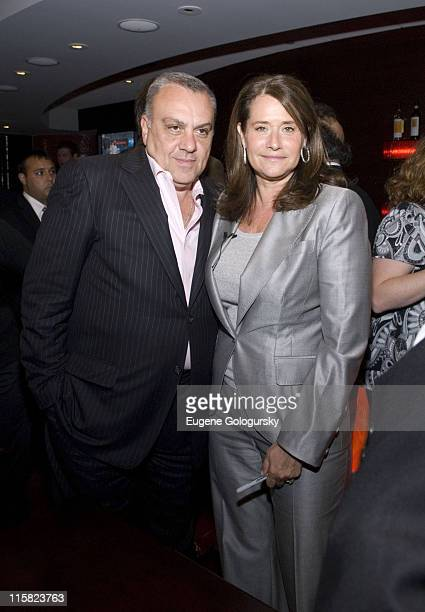 Vincent Curatola and Lorraine Bracco attend The Lorraine Bracco Wine Tasting at the Prudential Center in Newark NJ