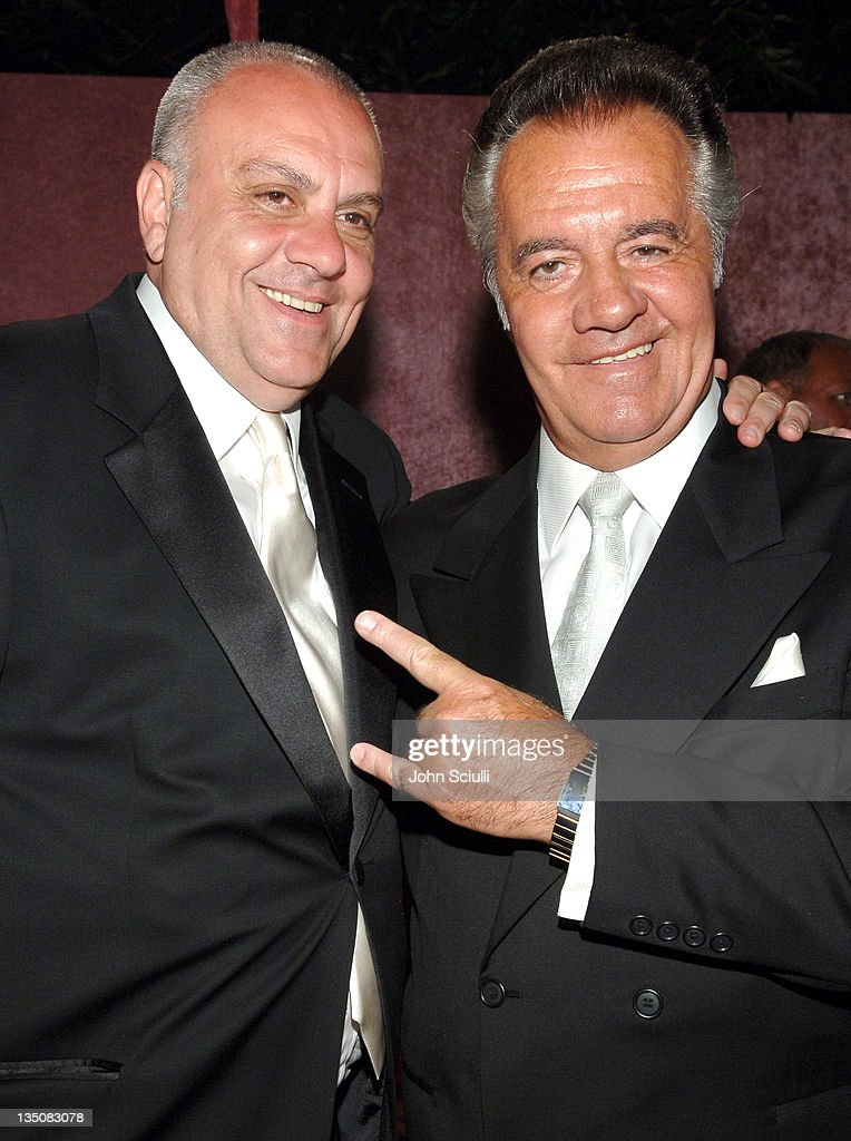 Vincent Curatola and Tony Sirico during 58th Annual Primetime Emmy Awards - HBO After Party - Red Carpet and Inside at Pacific Design Center in West Hollywood, California, United States.
