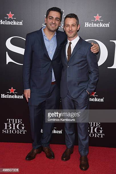 Vincent Daniel and actor Jeremy Strong attend the premiere of The Big Short at Ziegfeld Theatre on November 23 2015 in New York City