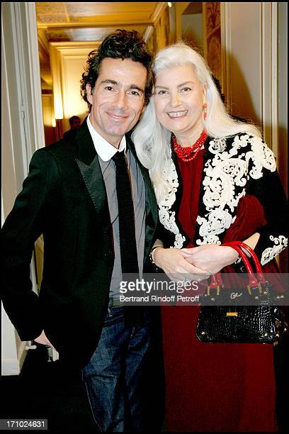 Vincent Dare and Marie Seznec Arielle Dombasle is made Knight of the Order of Legion of Honor by the minister of culture Renaud Donnedieu De Vabres