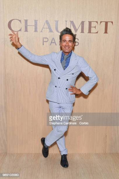 Vincent Dare attends the 'Tresors d'Afrique' Unvelling Of Chaumet High Jewelry Party as part of Haute Couture Paris Fashion Week on July 1 2018 in...