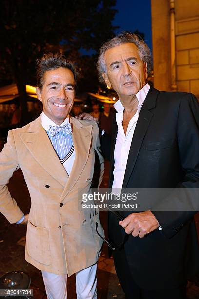 Vincent Darre and BernardHenri Levy attend 'Opium' movie Premiere held at Cinema Saint Germain in Paris on September 27 2013 in Paris France
