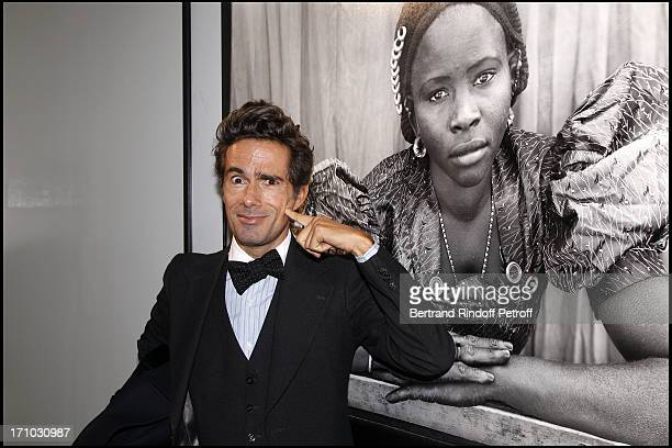 Vincent Darre at Every Journey Began In Africa Party For The Exhibition Africa Rising And The Discovery Of The Collaboration Between Edun And Louis...