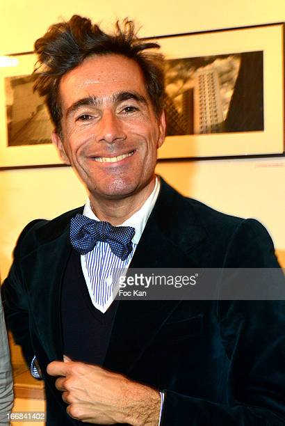Vincent Darre attends 'Les Racines De La Ville' Aramy Machry' s Photo Exhibition Preview At 'Le Plac Art' Gallery on April 17 2013 in Paris France