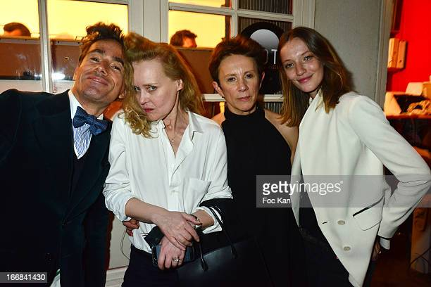 Vincent Darre Sibylle de Saint Phalle Victoria Fernandez and Milagros Schmoll attend 'Les Racines De La Ville' Aramy Machry' s Photo Exhibition...