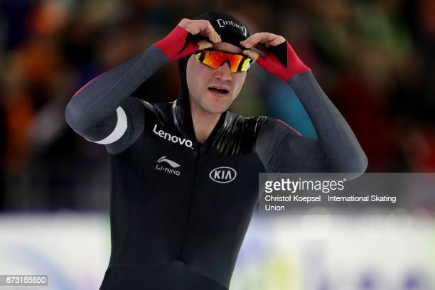 Vincent de Haitre of Canada competes during the men 1500m Division A race on Day Two during the ISU World Cup Speed Skating at the Thialf on November...