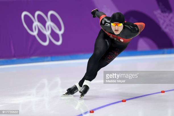 Vincent De Haitre of Canada comptes during the Men's 1500m Speed Skating on day four of the PyeongChang 2018 Winter Olympic Games at Gangneung Oval...