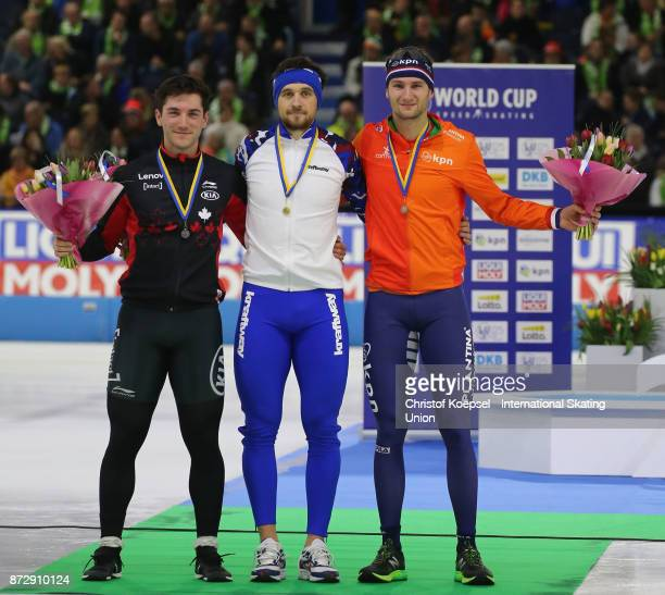 Vincent de Haitre of Canada poses during the medal ceremony after winning the 2nd place Denis Yuskov of Russia poses during the medal ceremony after...