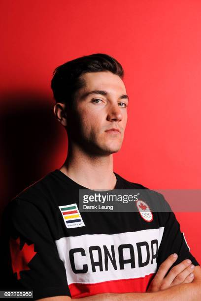 Vincent De Haitre poses for a portrait during the Canadian Olympic Committee Portrait Shoot on June 4 2017 in Calgary Alberta Canada