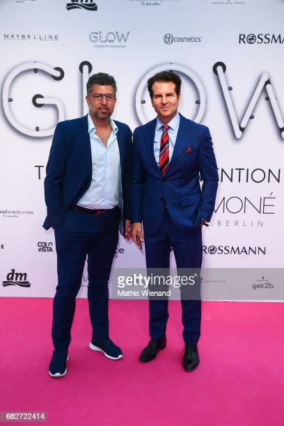 Vincent de Paul and Chris Maier attends the GLOW The Beauty Convention on May 13 2017 in Duesseldorf Germany