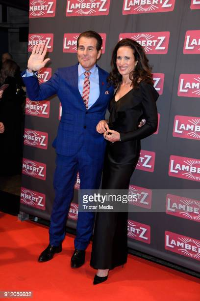 Vincent De Paul and US actress Andie MacDowell during the Lambertz Monday Night 2018 at Alter Wartesaal on January 29 2018 in Cologne Germany