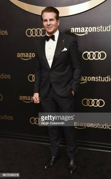 Vincent De Paul arrives at the Amazon Studios Golden Globes Celebration at The Beverly Hilton Hotel on January 7 2018 in Beverly Hills California