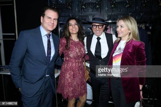 Vincent De Paul Sevgi Schaefer Thomas Rath and Sibel Brozat attend the Thomas Rath show during Platform Fashion January 2018 at Areal Boehler on...