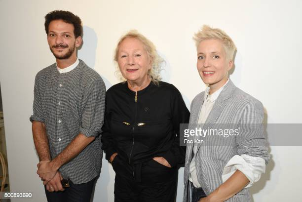 Vincent Dedienne Agnes B and Singer Jeanne Added attend Agnes B Menswear Spring/Summer 2018 show as part of Paris Fashion Week ton June 25 2017 in...