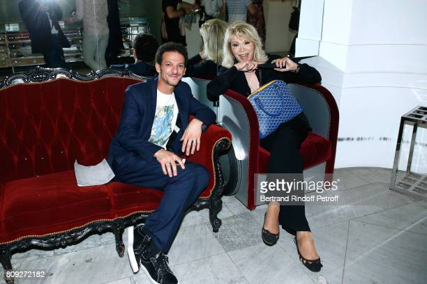 Vincent Dedienne and Amanda Lear attend the Jean Paul Gaultier Haute Couture Fall/Winter 2017-2018 show as part of Haute Couture Paris Fashion Week...