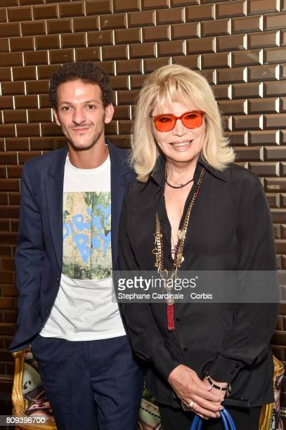 Vincent Dedienne and Amanda Lear attends the Jean Paul Gaultier Haute Couture Fall/Winter 20172018 show as part of Haute Couture Paris Fashion Week...