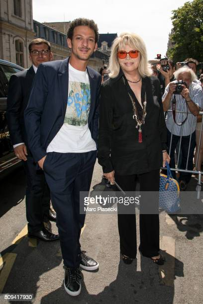 Vincent Dedienne and Amanda Lear attendsthe Jean Paul Gaultier Haute Couture Fall/Winter 20172018 show as part of Paris Fashion Week on July 5 2017...