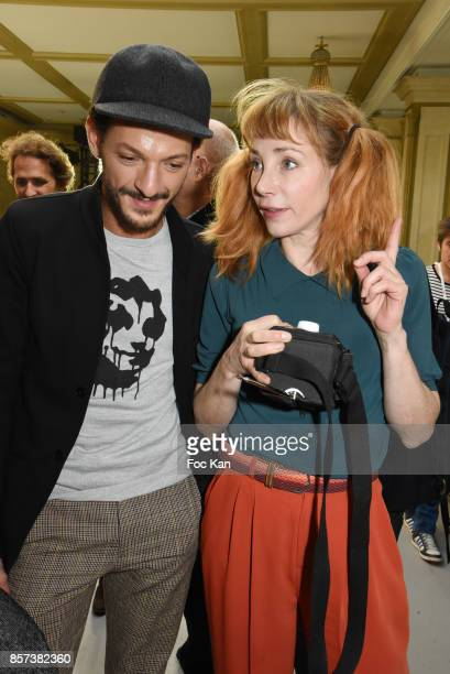 Vincent Dedienne and Julie Depardieu attend the Agnes B Show as part of the Paris Fashion Week Womenswear Spring/Summer 2018 on October 3 2017 in...