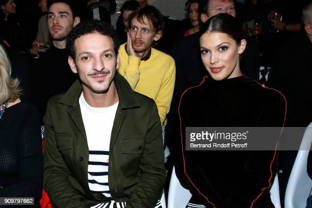 Vincent Dedienne and Miss France 2016 and Miss Univers 2016 Iris Mittenaere attend the JeanPaul Gaultier Haute Couture Spring Summer 2018 show as...