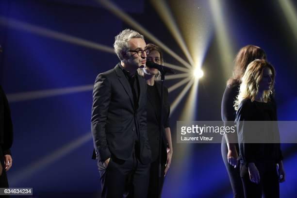 Vincent Delerm performs during 'Les Victoires de la Musiques 2017' at Le Zenith on February 10 2017 in Paris France