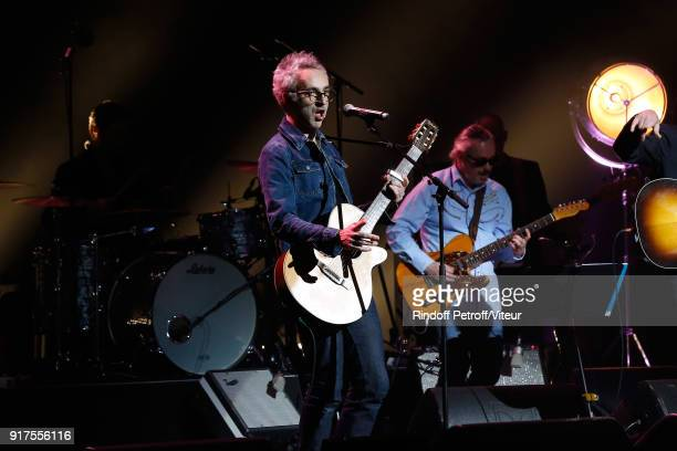Vincent Delerm performs during the Charity Gala against Alzheimer's disease at Salle Pleyel on February 12 2018 in Paris France
