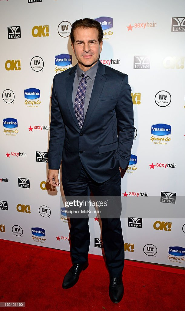 Vincent DePaul steps on the red carpet at OK! Magazine Pre-Oscar Party at The Emerson Theatre on February 22, 2013 in Hollywood, California.