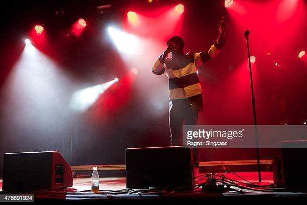 Vincent Dery of Nico and Vinz performs onstage during the second day of the Bravalla Festival on June 26, 2015 in Norrkoping, Sweden.