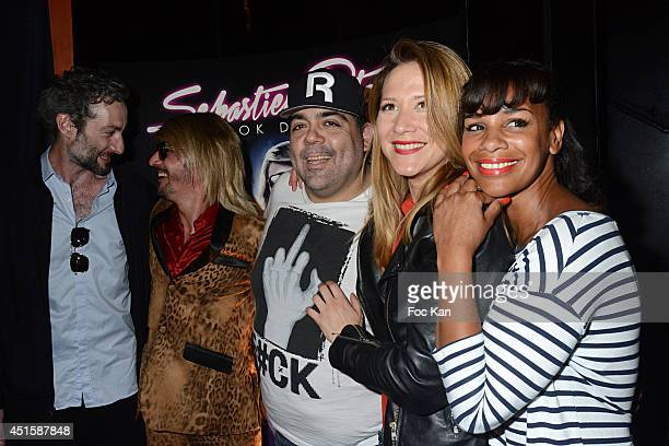 Vincent Desagnat Sebastien Patoche Laurent Cohen Stephanie Loire and Alicia Fall attend 'Un Look D'Enfer' Sebastien Patoche Show Case Party at the...